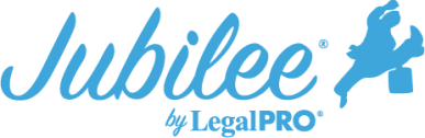 Jubilee by LegalPRO Systems Logo light blue website